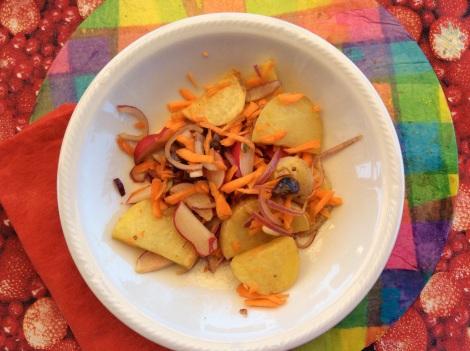 Insalata di patate e altre verdure